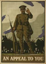 AN APPEAL TO YOU British WW1 Propaganda Poster