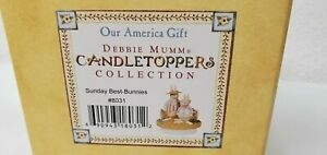 Debbie Mumm Collection Sunday Best Bunnies Candletoppers Our America Gift New