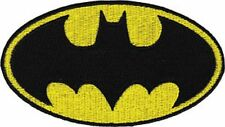 BATMAN - CLASSIC LOGO - LARGE EMBROIDERED PATCH - BRAND NEW - 0186