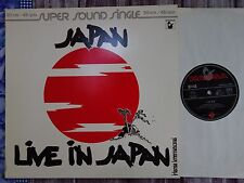 "Japan – Live In Japan  12"" Maxi  Hansa International – 600 242-213    * 1980"
