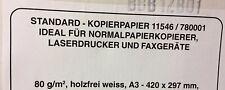 DIN A3 Kopierpapier, 80 g, holzfrei weiss, 2500 Blatt NEU und original verpackt
