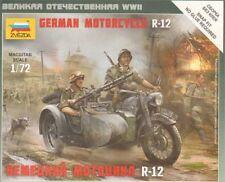 Zvezda 1/72 German Motorcycle R-12 # 6142