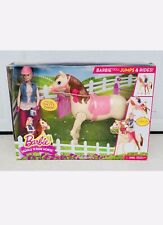 New Mattel Barbie Saddle 'N Ride Horse Set #Cld93 Walking Horse/Jumping Doll
