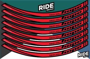 Hope Tech 35W 27.5 Rim Decal/Sticker Set - Red