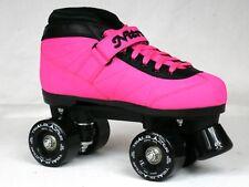 NEW CUSTOM Epic Nitro Turbo WILDBERRY RIDE Pink & Blk Outdoor Quad Roller Skates