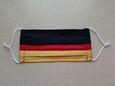 Mund-und Nasenmaske, Stoffmaske, Behelfsmaske mit Draht (Schwarz/Rot/Gold)