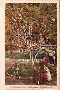 Pennsylvania PA Gettysburg Lollypop Tree Fantasyland Postcard Old Vintage Card