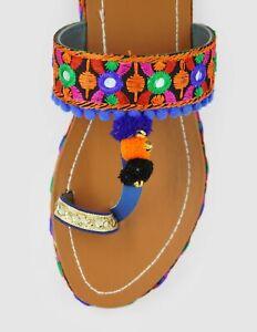 Indian  Party Wear Handmade Ethnic Footwear Women Slipper US-9