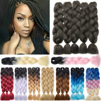 5x Ombre Synthetic Kanekalon Jumbo Braiding Hair Extension Afro Twist BOX Braid