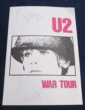U2, Bono, Edge, Adam Signed Sought-After Official 1983 Concert Program!