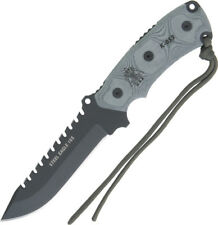 """TOPS Steel Eagle Knife 105HP 9 7/8"""" overall. 5 1/8"""" blade with sawback. Black Ky"""