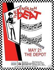 English Beat 2015 Salt Lake City Concert Tour Poster - 2 Tone,Ska,New Wave Music