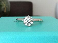TIFFANY & Co PLATINUM DIAMOND ENGAGEMENT RING .90 CT I VVS2 $12k RETAIL