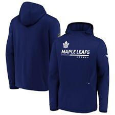 Мужские Торонто Мейпл Лифс синий аутентичные профессионально раздевалки пуловер с капюшоном