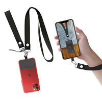 Cell Phone Lanyard with Nylon Patch Neck Strap & Wrist Strap for Most Smartphone