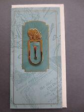 Metal BOOKMARK Solid Brass RHINO Animal Stuart Houghton Gift Card Unused