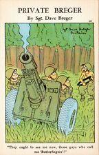 US Comic Private Breger by Sgt Dave Breger PostCard MILITARY - GUN - WAR - HUMOR
