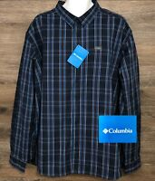 NEW Columbia Men's Multi-Color Plaid Long Sleeve Button Front Casual Shirt XXL