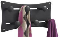 Safco Products 6422Bl Adjustable Coat Wall Rack Black Six Knob Aluminum Frame