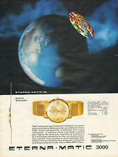 Publicité Advertising 1964  Montres  ETERNA MATIC 3000 montre calendrier
