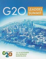 2014 AUSTRALIA STAMP PACK 'G20 LEADERS SUMMIT' MINI SHEET 10 x 70c MNH Stamps