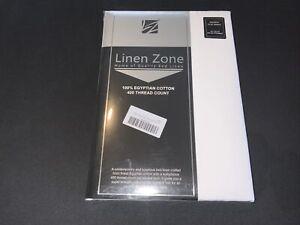 Linen Zone 400 Thread Egyptian Cotton, Double Flat Sheet - White
