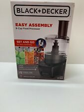 Black & Decker Easy Assembly 8-Cup Food Processor, Black, FP4200B