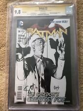 BATMAN #19 GREG CAPULLO BW SKETCH VARIANT 1:100 Scott Snyder CGC 9.8 Signed 2x