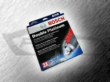 BOSCH 8101 DOUBLE PLATINUM SPARK PLUGS - SET OF 4 - OVER 900 VEHICLES