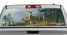 Truck Rear Window Decal Graphic [Deer / Autumn Whitetails] 20x65in DC68601