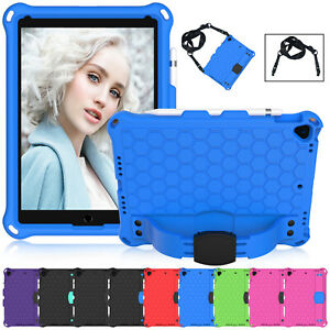 """For iPad 9.7"""" 6th 2018 5th 2017 Shockproof EVA Case Stand Strap Kids Safe Cover"""