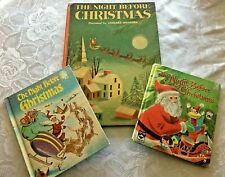 The Night Before Christmas Vintage Book LOT of 3 Big Treasure Whitman Wonder
