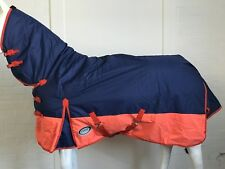 AXIOM 600D R/S WATERPROOF 300G NAVY/ORANGE PADDOCK HORSE COMBO - 6' 6