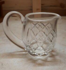Vintage Mid-Century Pressed Glass Small Milk Jug Creamer.
