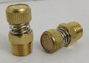 "2 Air Slow Down Fitting 1/4""npt Valve Brass Adjustable Air Suspension Muffler"