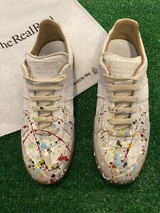 Maison Margiela Replica White Paint Splatter Sneakers Shoes Sz 7.5 Men / 9 Women