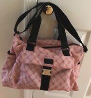 Lauren Ralph Lauren Signature Logo Pink Weekender Tote Duffel Bag Diaper Bag