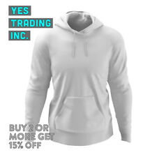 MENS WOMENS CASUAL PULLOVER HOODIE PLAIN HOODED SWEATSHIRT SOLID ROUND CREW NECK
