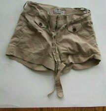 Girls sz 10 Old Navy khaki cargo shorts with tie front Adjustable waist