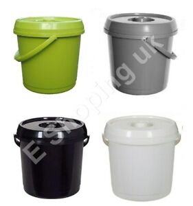 Plastic Nappy Bucket With Lid 14L / 3 Gallons Baby Home Pails Bin Tidy Container