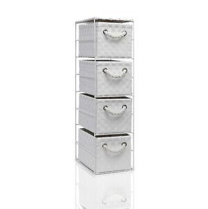 White 4 Drawer Storage Unit