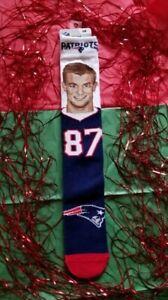NFL New England Patriots Rob Gronkowski #87 Socks (Size Large)