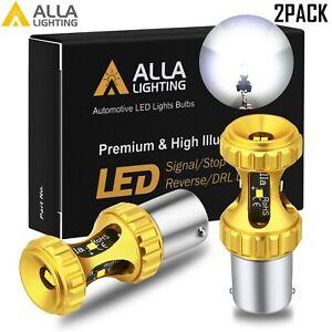 Alla Lighting 1156 CSP LED Back Up Reverse Light Bulb Lamp Backup 6000K White,2x