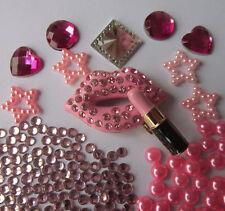 W107W Light purple Mouth Lipstick DIY Mobile Cell Phone Case Alloy Deco Den Kit
