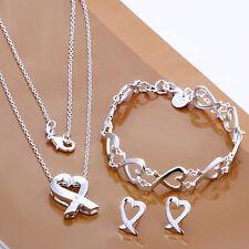 Fashion 925 Silver Kelp Women Accessories Necklace Earrings Earrings Set FS203