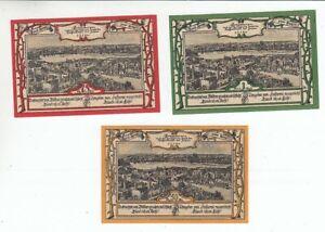 East Prussia Ortelsburg 3 Bills 1920