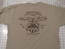 HARLEY DAVIDSON Birds Of Prey T-SHIRT Men LARGE Caldwell Idaho Genuine Eagle L