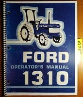 Ford 1310 Tractor Owner's Operator's Manual SE4066 300810630