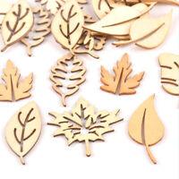 bricolaje Hollow Ornamento Adorno El patron deja La madera natural Scrapbooking