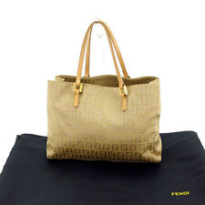 Fendi Tote bag Zucca Beige Woman Authentic Used Y4448